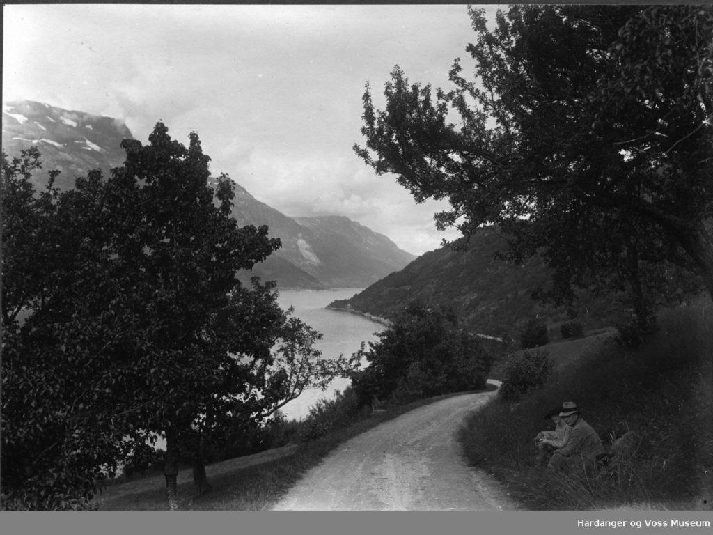 Nedsta Sekse, Seksevegen . Foto Jon A. Bleie frå 01.07.1924