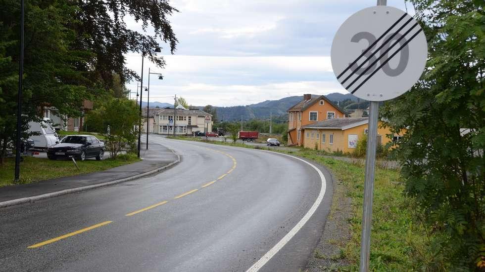 """"""" På veg sørover mot Melhus sentrum, etter lysreguleringa ved Meeggen står dette skiltet. Hvilken fart kan du kjøre i? 80? 50? 40? """""""
